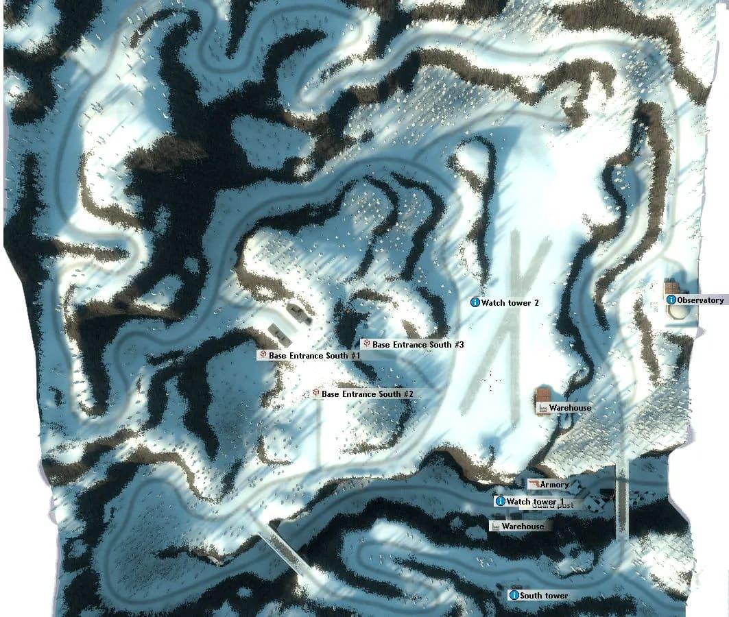 gm_boreas snow mountain map of Gmod